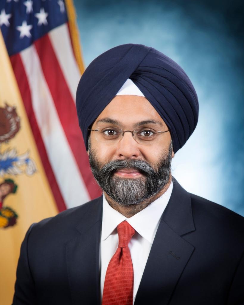 New Jersey's Attorney General Gurbir S. Grewal headshot at the Hughes Justice Complex in Trenton, N.J. on Monday, Jan. 22, 2018. (Office of Attorney General / Tim Larsen)